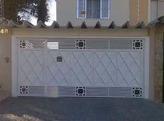 Front Gate Design, Main Gate Design, House Gate Design, Balcony Glass Design, Steel Gate, Front Gates, Wrought Iron Gates, Interior And Exterior, Garage Doors