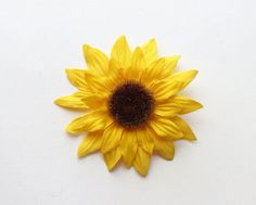 Sunflower Hair Clip by SouthcastleCreations on Etsy
