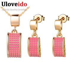 Find More Jewelry Sets Information about Pink Jewerly Sets for Women Rose Gold Plated Earrings Green Necklace Wedding Accessories for Women 925 Silver Set Ulove T242,High Quality enamel silver jewelry,China enamel for jewelry Suppliers, Cheap enamel jar from ULove Fashion Jewelry Store on Aliexpress.com