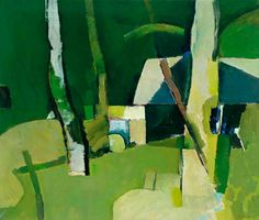 Keith Vaughan (British, Berkshire Landscape, Oil on canvas, x 60 cm Painting Collage, Paintings I Love, Your Paintings, Abstract Landscape, Landscape Paintings, Abstract Art, Abstract Trees, Green Landscape, Abstract Paintings