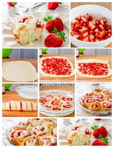 Strawberry Rolls with Cream Cheese Icing | Jo Cooks