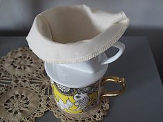 Eighteenth Century Agrarian Business: sewing: re-usable muslin coffee filter