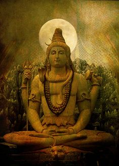 "Lord Shiva in Meditation - ""I know not what I am; but I know what I am not. That way I am un-bound. This is the Path-to-Freedom.""- Lord Shiva"