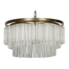 Noir Round Deco Chandelier Brass Ceiling Chandeliers ($1,239) ❤ liked on Polyvore featuring home, lighting, ceiling lights, brass hanging lights, brass light, round lamp, round light and brass hanging lamp