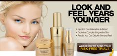 This is a line ofproducts that promise women a cost-effective, easy, at-home anti aging skintreatment.