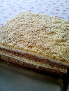 prášek do pečiva 200 mlolej… Albanian Recipes, Croatian Recipes, Baking Recipes, Cookie Recipes, Dessert Recipes, Desserts, Kolaci I Torte, Torte Cake, Custard Cake