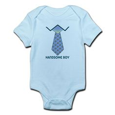 Handsome Boy Body Suit #Toddler #Baby #Graphic design Baby Clothing #Bibs #Tee Shirts #bodysuits #unique baby items #cute baby clothes #tie
