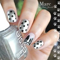 Essie French Bulldog Inspired Polka Dot Mani  #bellashoot #nailart