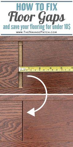 How to Fix Floating Floor Gaps with a DIY Floor Gap Fixer | DIY floor gap fixer | How to fix gaps in floorboards for under 10$ | How to fix gaps in wooden floors| Hot to fix gaps in laminate floors|#TheNavagePatch #DIY #HowTo #easydiy #woodfloors #livingroom #Farmhouse #flooring | TheNavagePatch.com