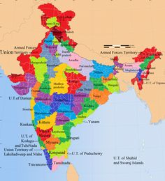 Proposed states and territories of India - Wikipedia India World Map, India Map, General Knowledge Book, Gernal Knowledge, Hindi Language Learning, Union Territory, Geography Map, India Facts, States Of India