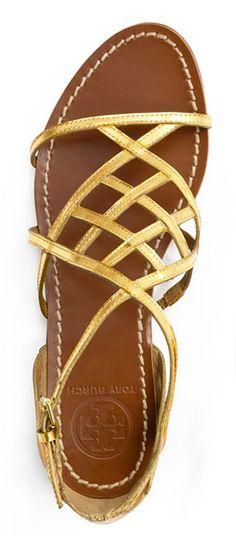 Tory Burch Amalie Flat Sandal ♥✤ | Keep the Glamour | BeStayBeautiful