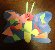 One of E's favourite books is The Very Hungry Caterpillar by Eric Carle. Simple Collage, Collage Ideas, Hungry Caterpillar Craft, Spring Plants, Eric Carle, Special Needs Kids, Art Activities, Crafty, Christmas Ornaments