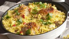 Couscous met dadels en gemarineerde kip | PlusOnline
