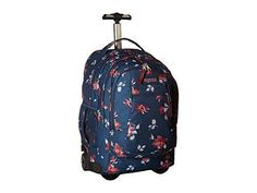 JanSport Driver 8 Core Series Wheeled Backpack (Navy Sweet Blossom)