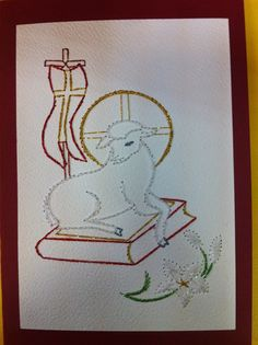 Photo: Première Communion, Tambour Embroidery, Card Making, Cross Stitch, Arts And Crafts, Album, Woodburning, Paper, Brother