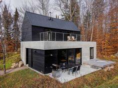 Metal Building Homes, Building A House, Plan Chalet, Cottage Plan, Cottage Ideas, Modern Cottage, Architect House, Small House Design, Scandinavian Home
