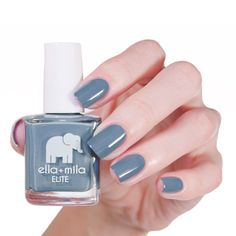 Perfect gray nail polish from Ella + Mila's Elite collection. 7 free and certified by PETA!