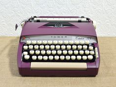 Purple Typewriter- Restored Tower Citation 88- Custom Painted Fully Serviced Typewriter with Case - pinned by pin4etsy.com