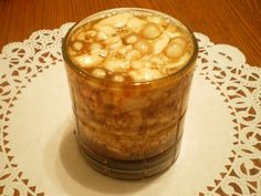 """How to make Homemade Taho. Taho is a Philippine street food sold by peddlers known as """"magtataho"""". It is a soft gelatin-like snack made from processed soybeans topped with caramel and tapioca pearls (locally called sago). Filipino Dishes, Filipino Desserts, Filipino Recipes, Chamorro Recipes, Asian Recipes, Filipino Street Food, Filipino Food, Filipino Culture, Pinoy Food"""