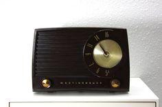 Vintage Brown Bakelite Westinghouse AM Radio by AtomicAttic, $49.00