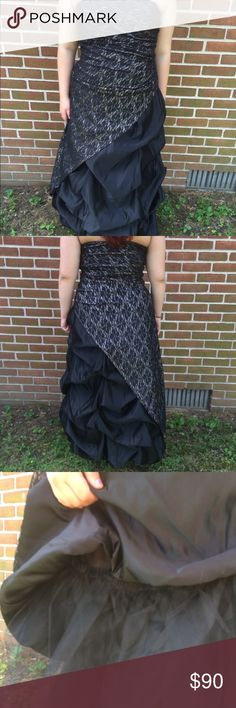 Deb's Black, Cream, and Lace Prom Dress Only worn once. There is a zipper on the side. This is a layered dress, which is shown in the pictures. 🎄Great Christmas gift!🎄 ⭐️Use like button to get price drop notifications! ❤️ ⭐Bundle to save   ⭐️Personalized bundles!  ⭐️ Use the offer button ⭐️Same day shipping ⭐️ Smoke free home 🚫 No PayPal  🚫 I don't sell on any other apps 🚫 No trades Deb Dresses Prom