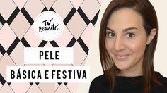 Vídeo com tutorial de maquiagem de pele básica e festiva com Vic Ceridono.