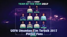 UEFA Umumkan Tim Terbaik 2017 Pilihan Fans