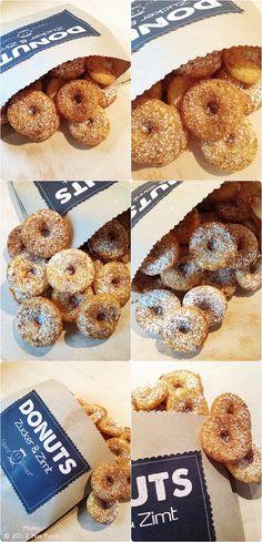 Ein Rezept für Donuts mit einer PFD-Datei für die Etiketten zum ausdrucken.