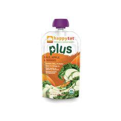 Happy Tot Baby Food - Organic - Plus - Kale Apple and Mango - 4.22 oz - Case of 16