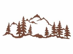The Mountain Scene x Steel Wall Art by Ironwood Industries features a wonderful image precision cut from rolled steel. Add a sense of rustic flair to any wall in your home with this fabulous piece of wall art. Metal Tree Wall Art, Metal Art, Silhouettes, Mountain Silhouette, Mountain Art, Dibujos Tattoo, Wood Burning Patterns, Art Plastique, Tattoo Ideas