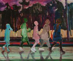 Alice Brasser Walk # 2, 2007 60 x 50 cm, mixed media on canvas