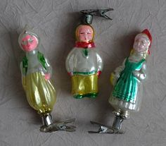 Old Shabby Christmas Tree Toys, vintage glass Soviet Christmas toy, set of 3 USSR XChristmas decorations, retro Russian New Year decor DIY Little Christmas Trees, Glass Christmas Tree, Christmas Toys, Christmas And New Year, Christmas Ornaments, Glass Toys, Vintage Toys, Shabby, Previous Life