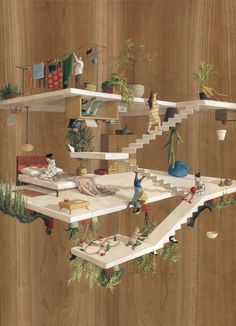 (Courtesy Cinta Vidal Agullo)The impossible architecture depicted in paintings by Spanish artist Cinta Vidal Agulló are immersive M.C. Escher-meets-Dr. Seuss dreamscapes of multi-dimensional planes inhabited by tiny, doll-like figures.