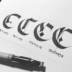 A variety of C's from last week. Been working on some upcoming D posts to catch up with Calligraphy Doodles, Calligraphy Handwriting, Calligraphy Letters, Gothic Lettering, Types Of Lettering, Hand Lettering, Gothic Alphabet, Caligraphy Alphabet, 50 Words