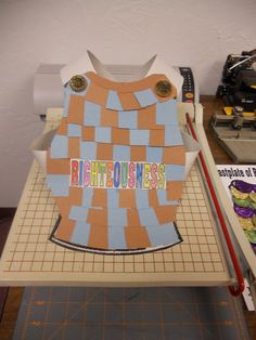 armor of god breastplate craft - Bing Images Do this with kids choice of colored duck tape on Cardboard template? Could be fun and colorful!