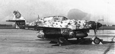 The night fighting version of the Me-262 features radar antenna on the nose and a second seat for a radar operator.