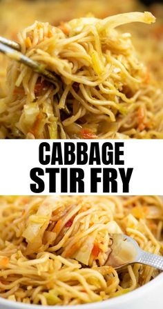 Stir Fry Recipes, Veggie Recipes, Vegetarian Recipes, Cooking Recipes, Healthy Recipes, Healthy Food, Easy Cabbage Recipes, Vegetarian Italian, Recipe For Fried Cabbage