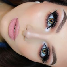 """""""Big lashes always Lashes - @vegas_nay @eylureofficial lashes in Grand Glamor. Liner - @sigmabeauty Stand Out gel liner in Wicked. Brows -…"""""""