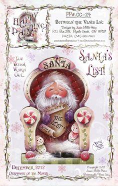 Santa's List pattern packet - Jamie Mills-Price