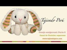 Conejo amigurumi (Parte 2: tejiendo los brazos y la cola) - YouTube