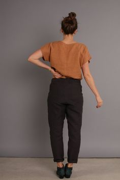 Conscious Clothing, sustainable, handmade, eco friendly, low impact, fitted pant