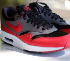 Nike Air Max 1-Black-Red-Anthracite