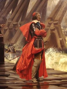 Henri Motte's somewhat romantic depiction of Cardinal Richelieu at the Siege of La Rochelle.