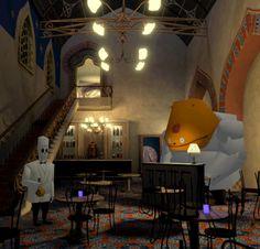 "morebuildingsandfood: "" Gold flake liqueur from Grim Fandango Remastered by LucasArts/Double Fine. """