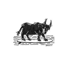 Bullying Bull bullying  Strong bull but too fragile.  #animal #drawing #bull #illustration #fineart #my #myside #strong #fragile #surf #black #sin #romance #gesture
