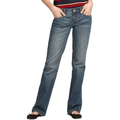 "Tommy Hilfiger women's jean. Because a good jean is hard to find we did the work for you. Our bootcut jean truly is all that. Bootcut, low rise, easy through hip and thigh, 8.5"" front rise, 19.5"" leg opening. 99% cotton, 1% spandex. 5-pocket styling, a hint of spandex for stretch, lightly whiskered and distressed. Machine washable. Imported.br/"