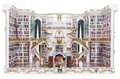 Be our guest and browse this stunning LEGO version of the library from Beauty & The Beast