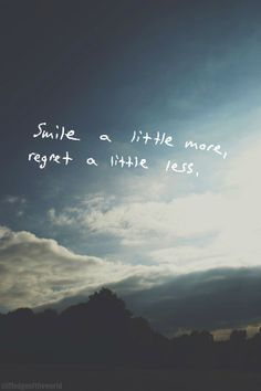 Smile a little more.