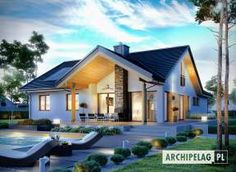 Haus moderne Häuser von Pracownia Projektowa ARCHIPELAG Bringing a Touch of the Orient to Your Back Future House, My House, Farm House, Modern House Plans, Home Fashion, Ideal Home, Exterior Design, Modern Architecture, Modern Farmhouse