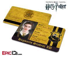 Harry Potter Inspired Hogwarts Student ID (Hufflepuff) [Photo Personalized]